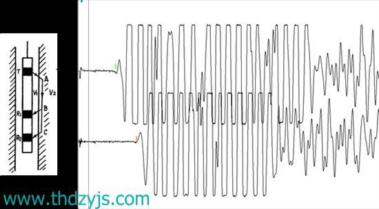 产器用途: 单孔一发双收测量 技术指标: 1、探头直径:3.8cm; 2、发射换能器主频: 30kHz; 3、发射换能器与相邻接收换能器间距:30cm; 4、两个接收换能器间距:20cm; 5、为了保证换能器居中,各换能器均套置橡胶扶正器。 6、线缆长度(米标):50米; 7、线缆数量:单根(内含1根发射线缆和2根接收线缆); 8、线缆承受拉力:不小于线缆及换能器自重的3倍; 9、换能器接头接头为BNC/Q9 突出特点: 1、采用优质的压电陶瓷。  2、采用进口优质密封胶。  3、前置放大在换能器陶瓷体内